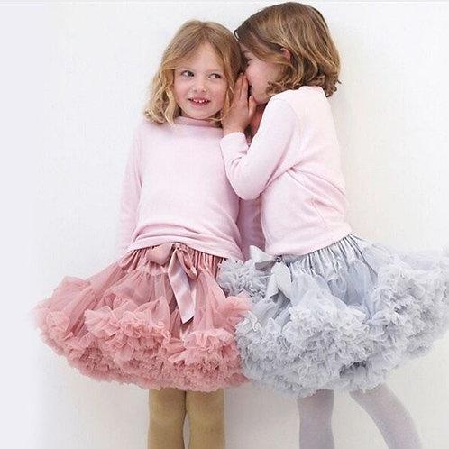 1-10y Girls Tutu Skirt Ballerina Pettiskirt Layer Fluffy Children Ballet Skirts
