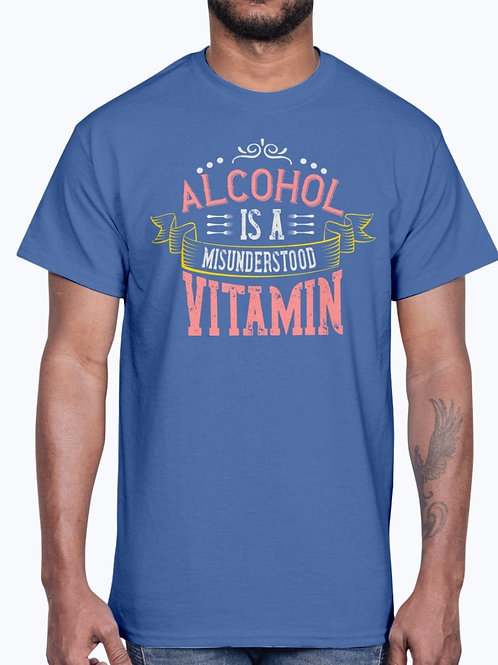 Alcohol Is a Misunderstood Vitamin -Drinking - Cotton Tee