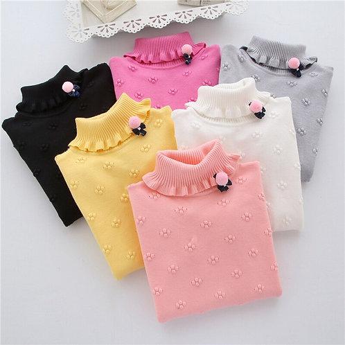 2020 New Brand Fashion Kids Clothes Girls Flower Children Sweater Girls Pullover