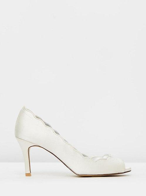 Izoa Bride Peeptoe Heels Ivory (SIZE 39 ONLY)