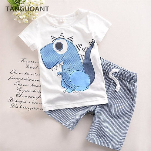 TANGUOANT Hot Sale Brand Boys Clothing Children Summer Boys Clothes Cartoon