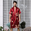 Thumbnail: Black Two-Piece Robe Suit Male Silk Dragon Dressing Gown Extra Large 5XL Robe