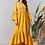 Thumbnail: Ramadan Muslim Abayas Yellow Embroidery Dress for Women Dubai Turkey Kaftan