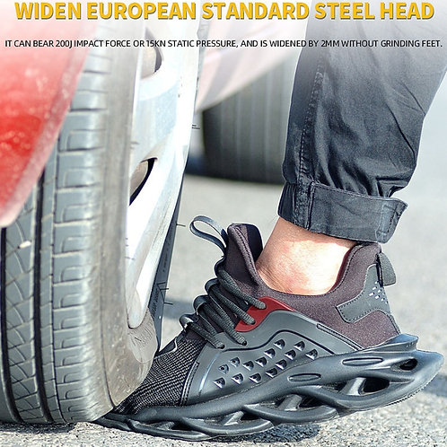 DM12 Steel Toe Safety Shoes Lightweight Breathable Puncture Proof