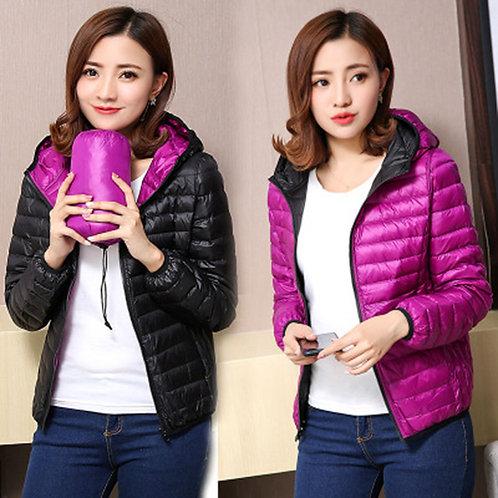 Winter Women Ultra Light Down Jacket White Duck Down Hooded Jackets