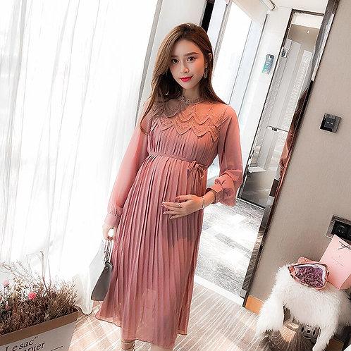 New Fashion Spring Autumn Long Pregnancy Dresses for Pregnant Women Plus Size