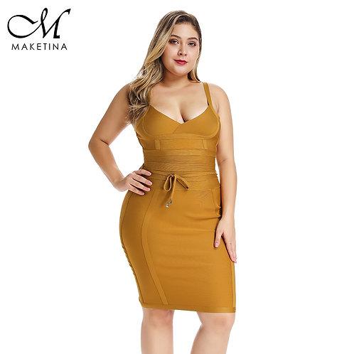Bandage Dress Mini Elegant Yellow Bandage Dress Sexy Woman Party Club