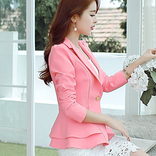 Ladies Blazers New Fashion Single Button Blazer Women Suit Jacket
