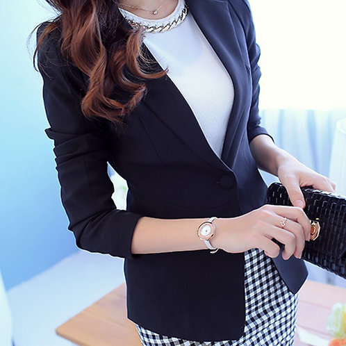 Ladies Blazer  Long Sleeve Blaser Women Suit Jacket Female Feminine Blazer