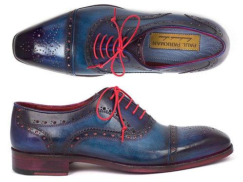 Paul Parkman Men's Captoe Oxfords Blue & Parliament