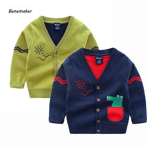 Benemaker Children's Sweaters Cardigan for Boys Girls Clothing Autumn Warm