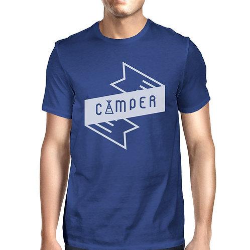 Camper Men's Blue Short Sleeve Tee Cool Summer Outdoor T Shirt