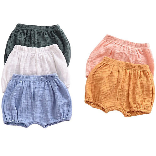 2020 Baby Girls BOYS Summer Shorts Linen Cotton Kids Outfits Children Clothing