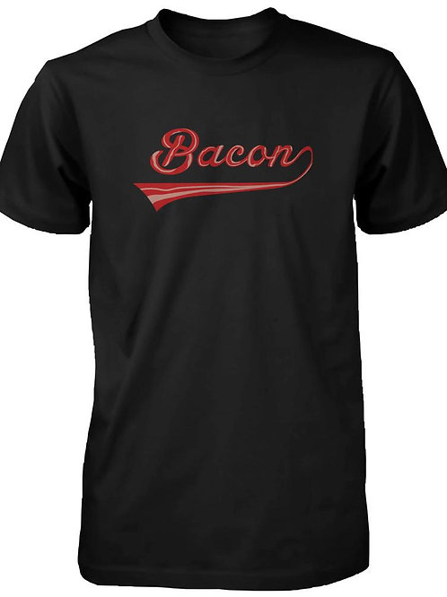 Bacon Men's T-Shirt for Bacon Lovers - Graphic Humor Adult Short Sleeve Tee