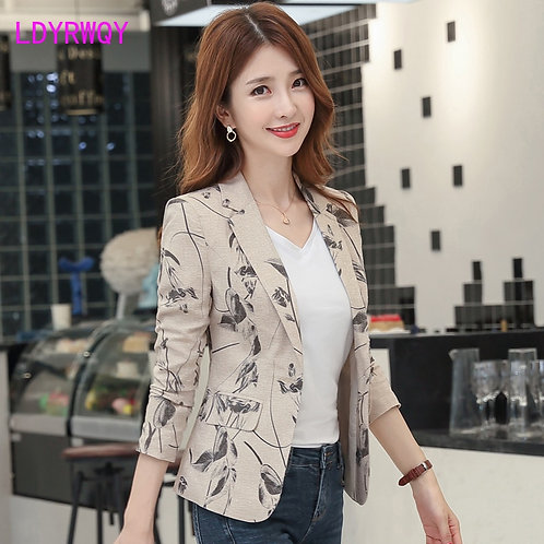 New Autumn Korean Version of the Self-Cultivation Retro Small Suit Jacket