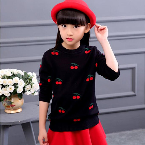 2020 Autumn Children's Clothes Girls Sweaters Printed Long Sleeve Girl Knitted