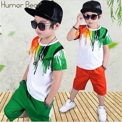 Humor Bear Boys Clothing Set Baby Boy Clothes New Summer Kids Clothing sets