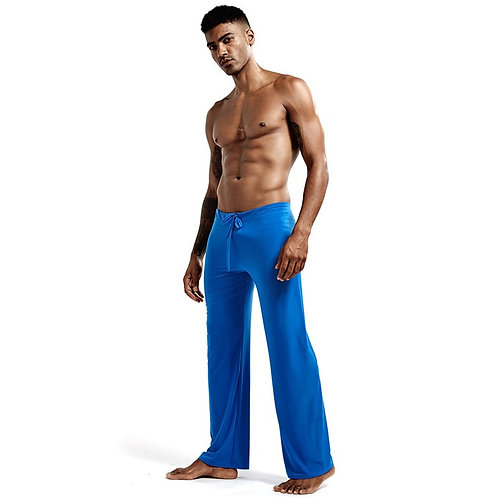 Pyjamas Trousers Soft Ice Silk Home Clothes Men's Casual Pants Breathable