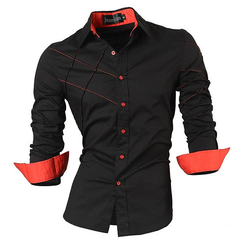 Jeansian Spring Autumn Features Shirts Men Casual Jeans Shirt