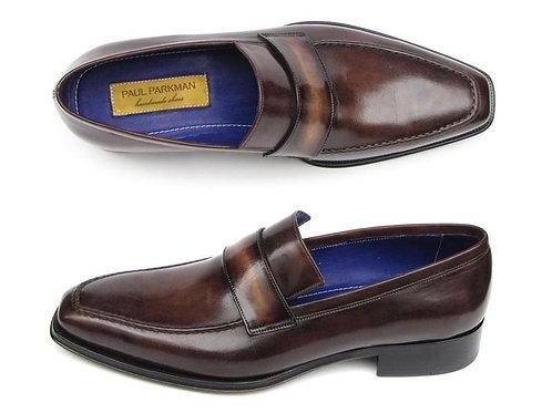 Paul Parkman Men's Loafer Bronze Hand Painted Shoes