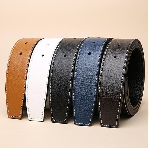 Luxury Brand Belts for Men HQ Pin Buckle . No Buckle 3.8cm Belt