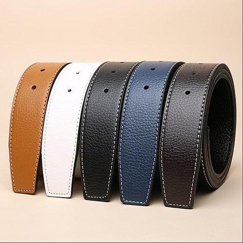 Luxury Brand Belts for Men HQ Pin Buckle . No Buckle 3.8cm Belt