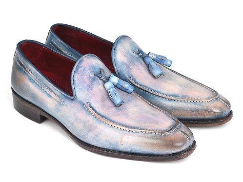 Paul Parkman Tassel Loafers Lila Hand-Painted