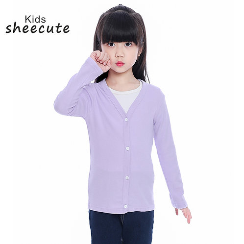 SheeCute  Baby Children Clothing Boys Girls Candy Color Knitted Cardigan Sweater