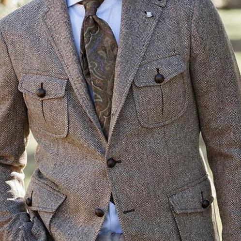 Wool Hunting Coat Men Multi Pocket American Work Suit /Jacket Spring and Autumn