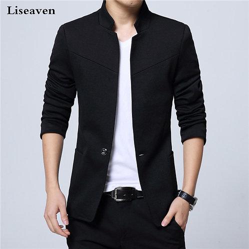 Liseaven Blazer Men Jackets Male Stand Collar Male Blazers Slim Fit Mens