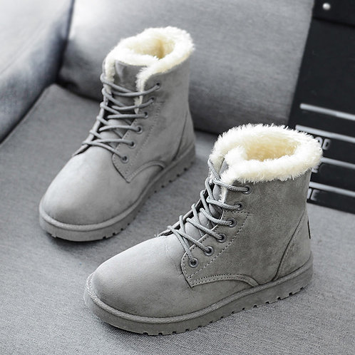 Mid-Calf Boots Ladies Cotton Winter Boots for Women