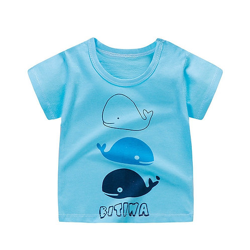 Baby Girls T-Shirts Summer Short Sleeve Baby Clothing Cotton Tee Tops
