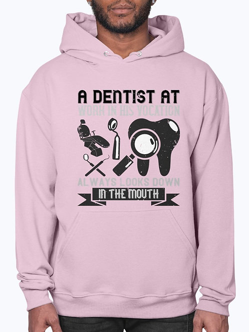 A Dentist at Work in His Vocation Always Looks Down in the Mouth - Dentist