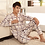 Thumbnail: Thoshine Brand Spring Autumn Winter Men 100% Cotton Pajamas Sets of Sleep