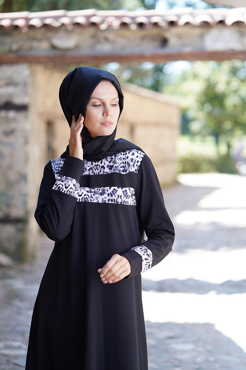 Muslim Women Long Dress Sweatshirts Dress Plus Size Maxi Modest Sporty Dress
