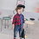 Thumbnail: Kimocat New Children Boys Shirts Fashion Classic Casual Plaid 100% Cotton Kids