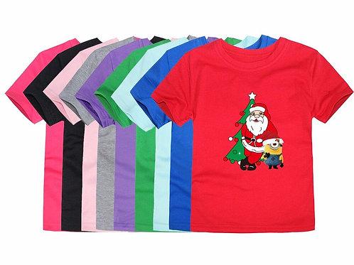 New Christmas Baby Girls Boys T Shirts Kids Cotton Christmas T-Shirts Santa