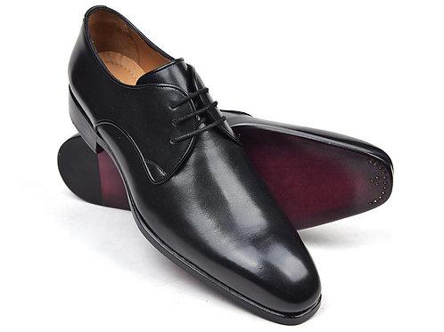 Paul Parkman Men's Black Leather Derby Shoes