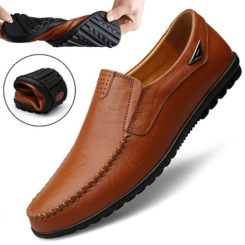 Genuine Leather Men Casual Loafers Moccasins Breathable Slip-on