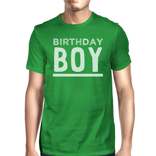 Birthday Boy Mens Green Shirt