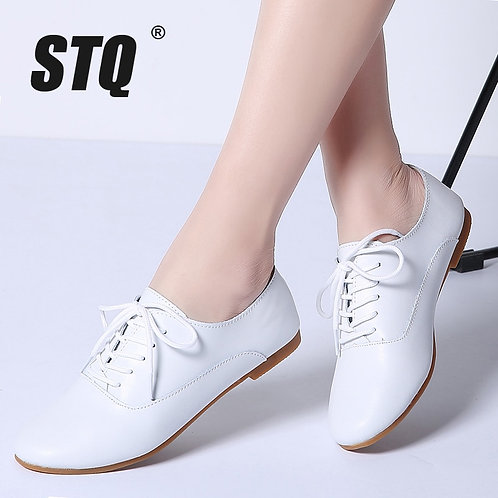 Women Oxford Shoes Ballerina Flats Shoes Women Genuine Leather Shoes