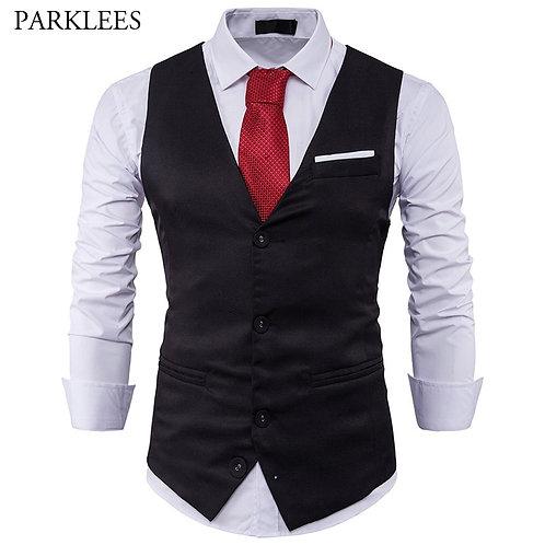 Mens Suit Vest  Male Waistcoat Slim Fit Vest Waistcoat Business Wedding