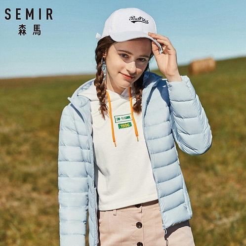 SEMIR 2019 New Winter Down Jacket Women Winter Plus Velvet Hooded Coats