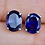 Thumbnail: Oval Iolite Stud Earrings