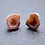 Thumbnail: Pink Sterling Silver Geode Stud Earrings