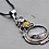 Thumbnail: Black and Golden Rutilated Quartz Sterling Silver Necklace