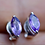 Thumbnail: Marquise Amethyst Stud Earrings