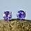 Thumbnail: Medium Round Amethyst Stud Earrings