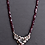 Thumbnail: Garnet and Moonstone Floral Silver Necklace