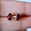 Thumbnail: Oval Garnet Stud Earrings
